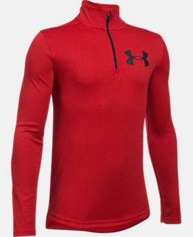 New to Outlet Boys' UA Tech™ Textured ¼ Zip LIMITED TIME OFFER 7 Colors $24.49
