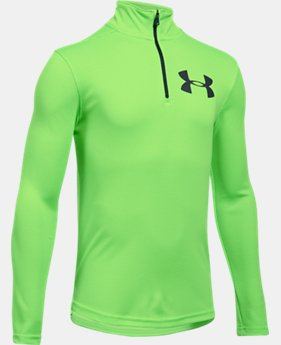Boys' UA Tech™ Textured ¼ Zip  2 Colors $34.99
