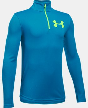 Boys' UA Tech™ Textured ¼ Zip LIMITED TIME OFFER 5 Colors $27.99