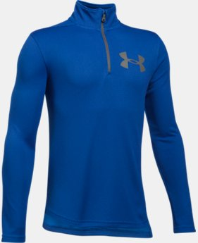 New to Outlet Boys' UA Tech™ Textured ¼ Zip LIMITED TIME OFFER 2 Colors $24.49