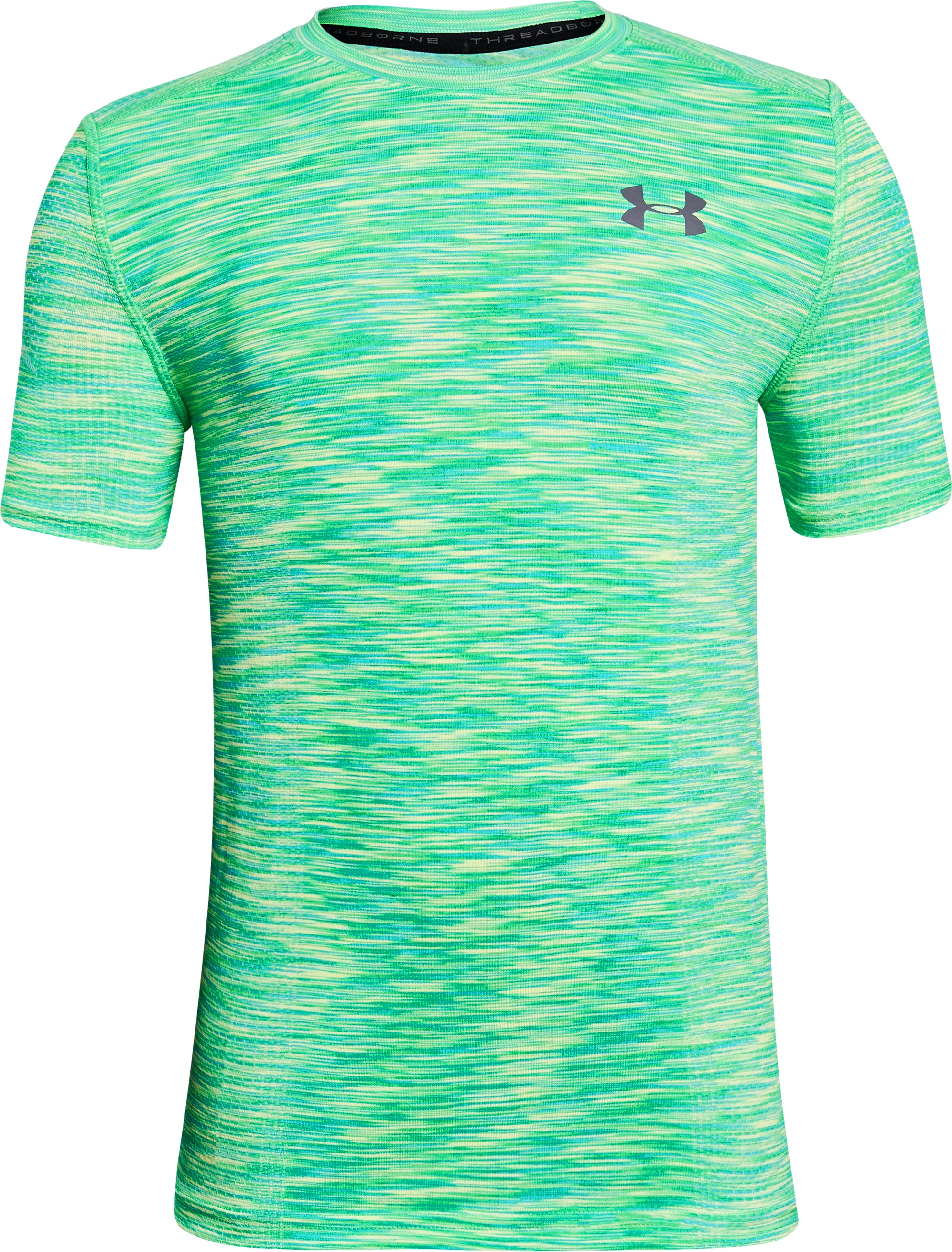 Boys' UA Threadborne™ Seamless, LIME TWIST