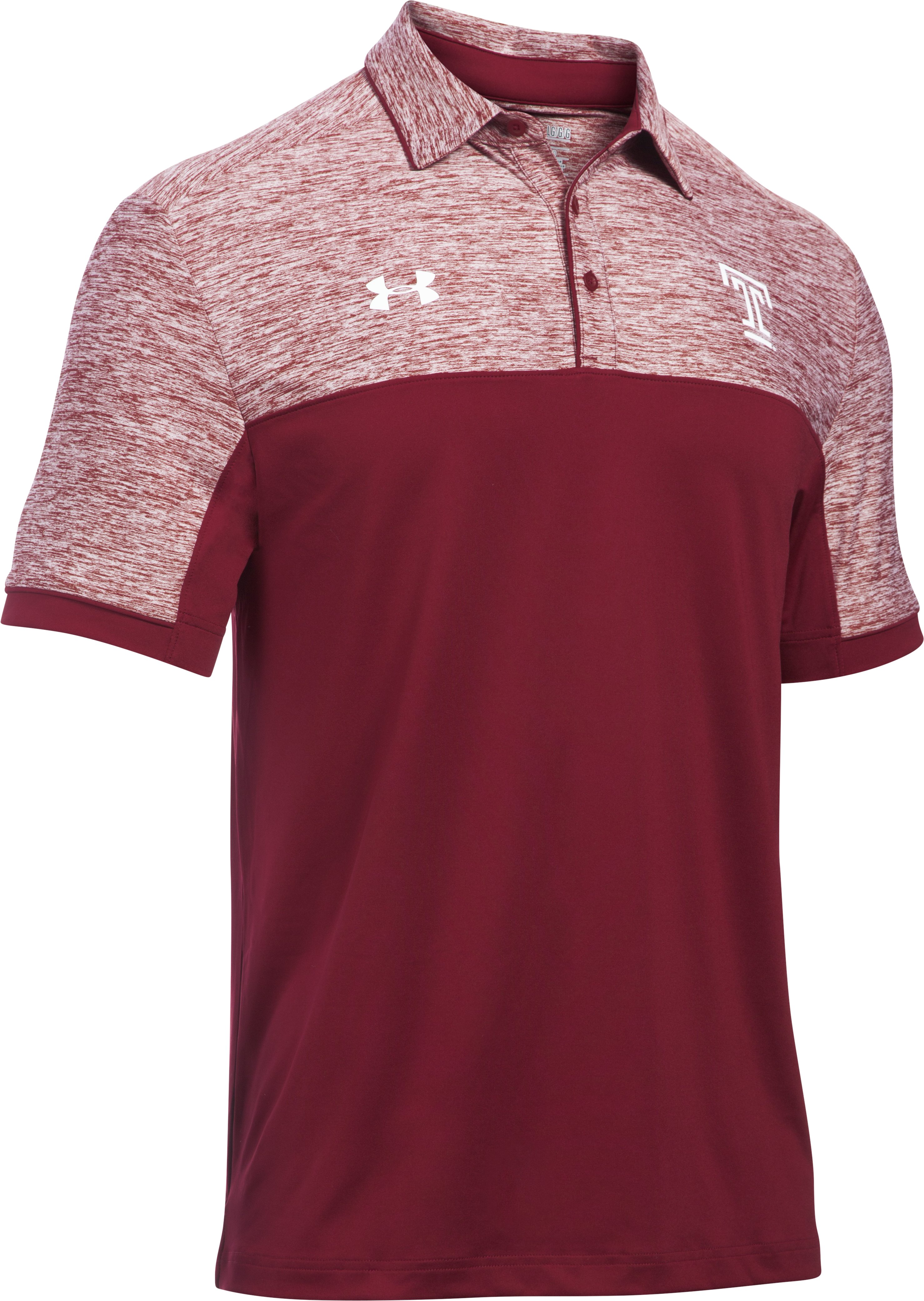 Men's Temple UA Polo, Red