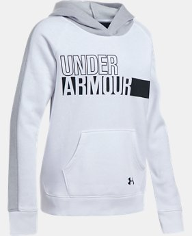 New to Outlet Girls' UA Favorite Fleece Hoodie LIMITED TIME ONLY  $31.49