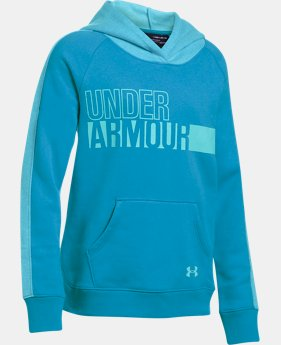 New to Outlet Girls' UA Favorite Fleece Hoodie LIMITED TIME OFFER 1 Color $29.99
