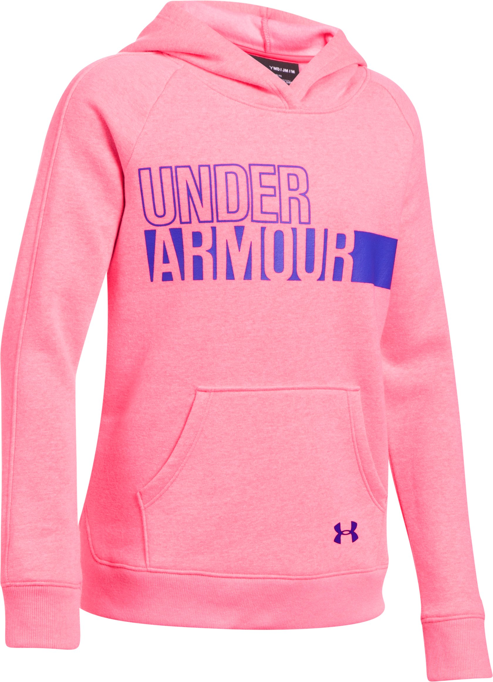 Girls' UA Favorite Fleece Hoodie, PENTA PINK, undefined