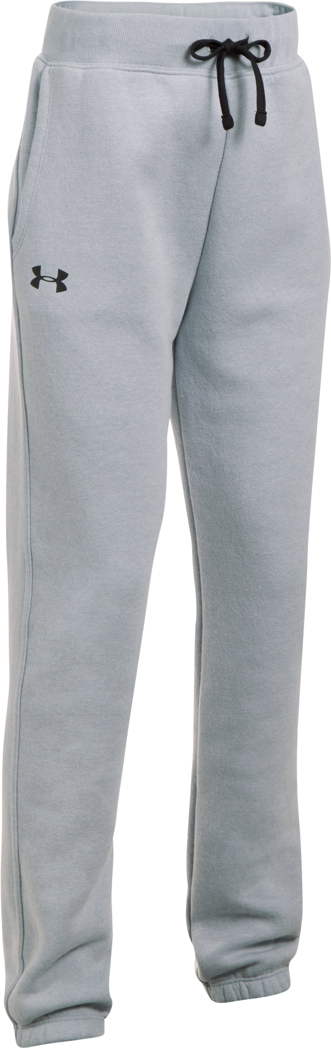 Girls' UA Favorite Fleece Jogger, OVERCAST GRAY