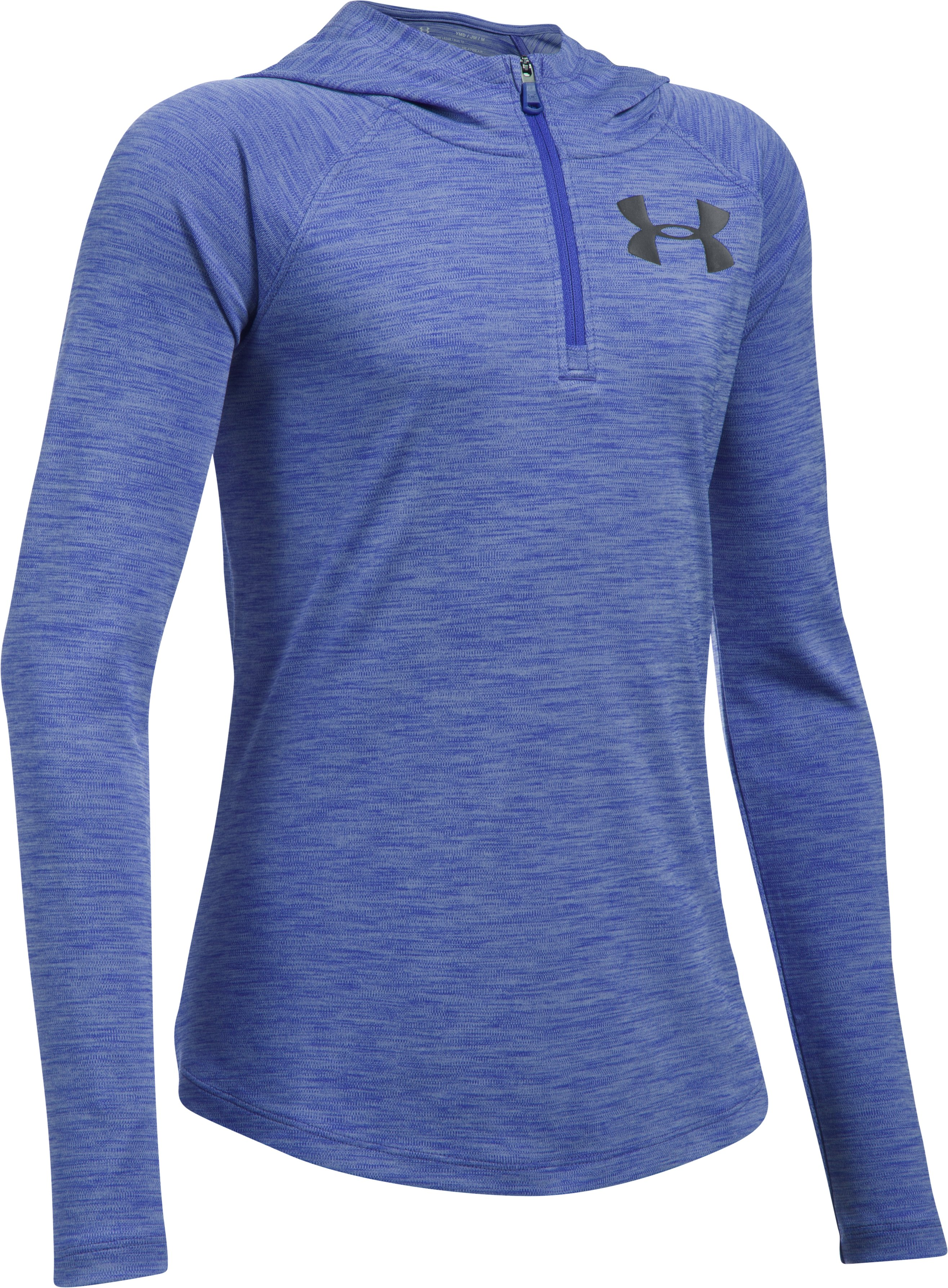 Girls' UA Tech™ ¼ Zip Printed Hoodie, CONSTELLATION PURPLE