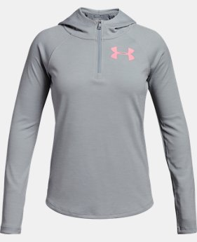 New Arrival Girls' UA Tech™ ¼ Zip Printed Hoodie  1 Color $39.99