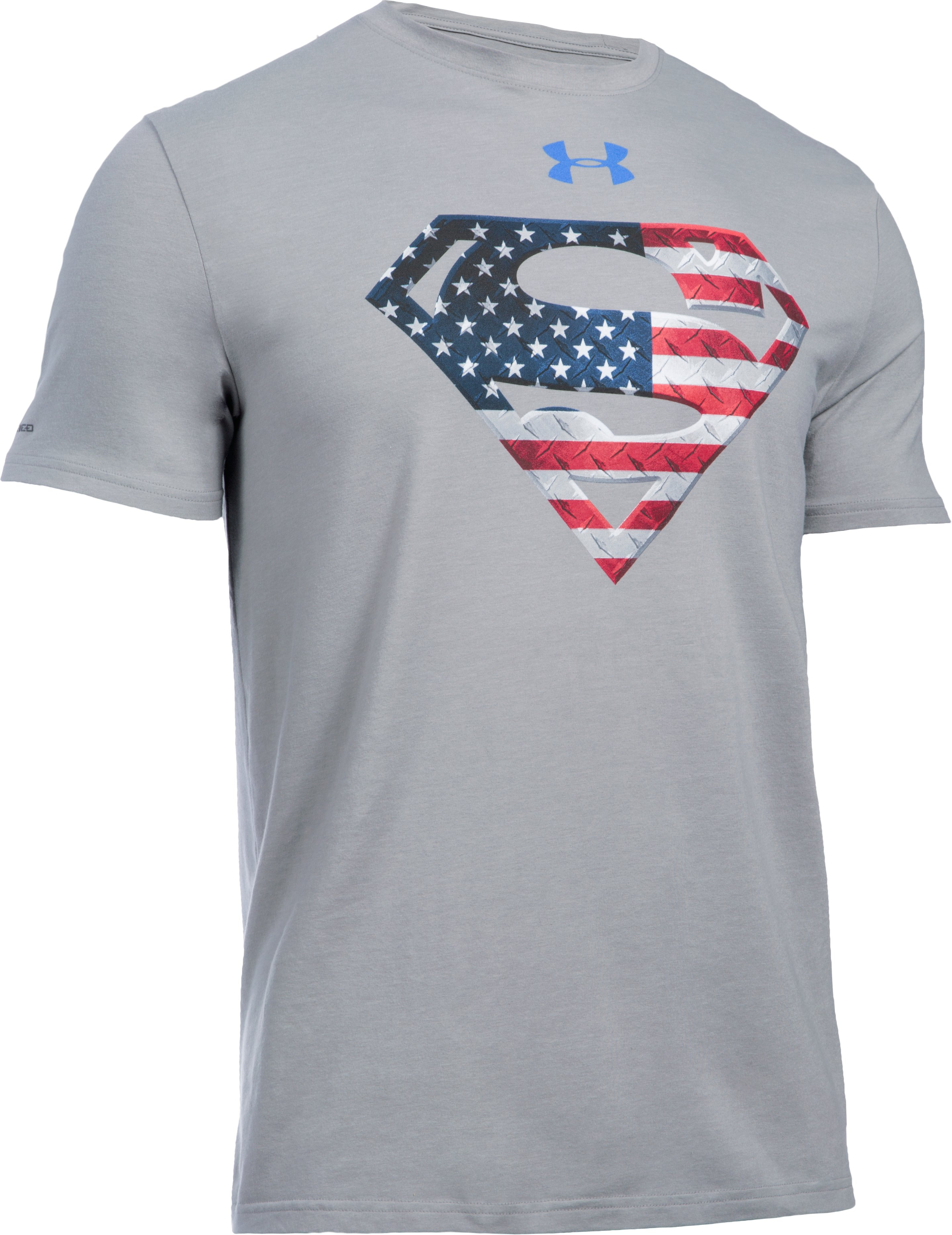 Men's Under Armour® Alter Ego Superman USA T-Shirt, True Gray Heather