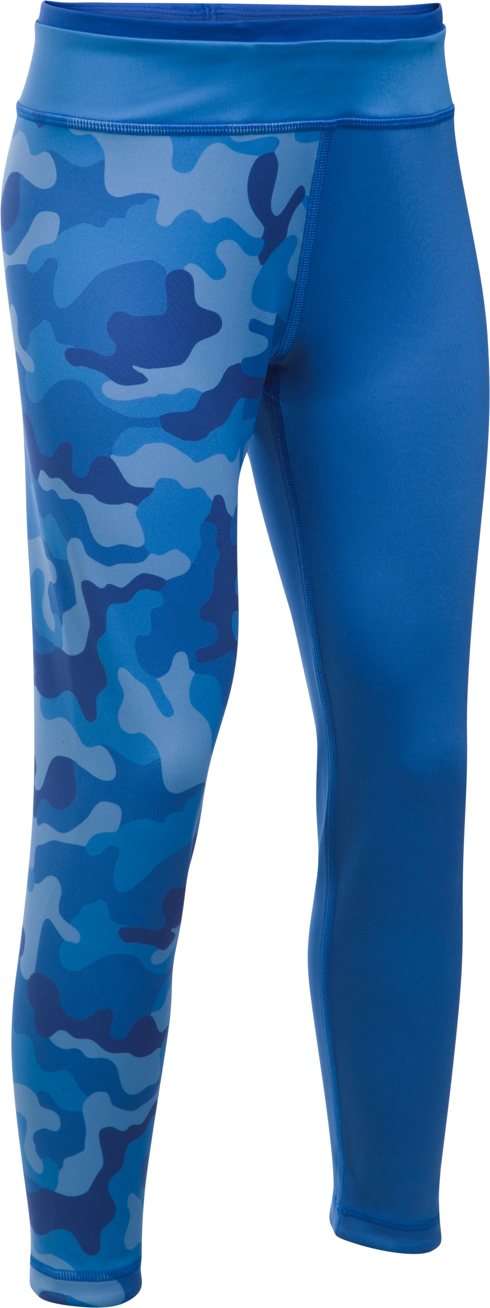 Girls' UA Reversible Crop Leggings, LAPIS BLUE,