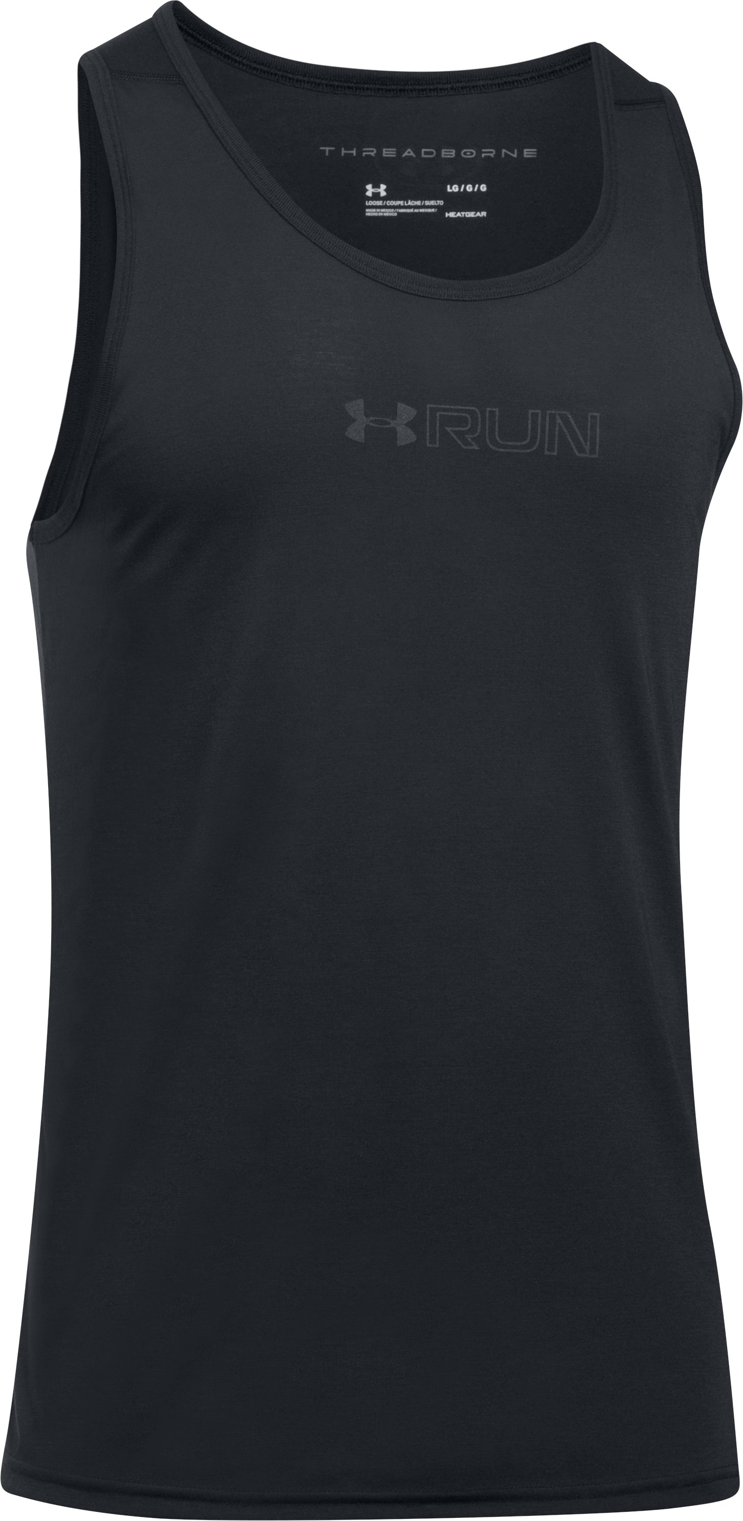 Men's UA 365 Run Tank, Black ,