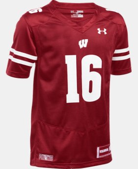 Kids' Wisconsin UA Premier Football Jersey