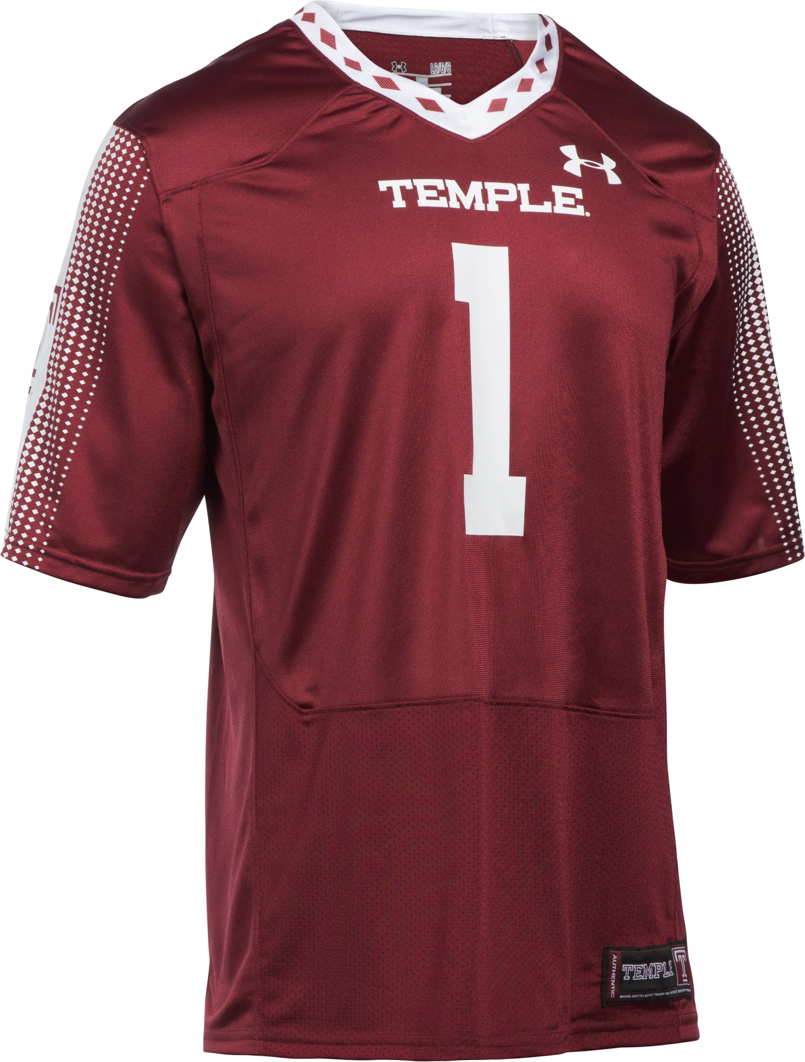 Men's Temple UA Replica Football Jersey, Maroon