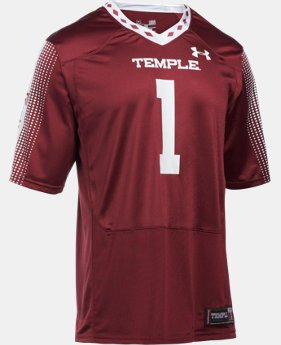Men's Temple UA Replica Football Jersey  1 Color $72.24