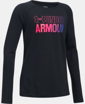 Girls' UA Combo Logo Long Sleeve  2 Colors $24.99