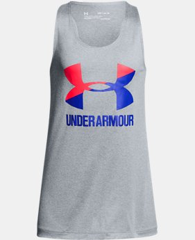 Girls' UA Big Logo Slash Tank  1  Color Available $22.99