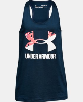 Girls' UA Big Logo Slash Tank  4 Colors $19.99