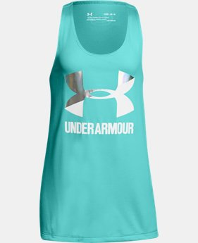Girls' UA Big Logo Slash Tank  1  Color Available $19.99