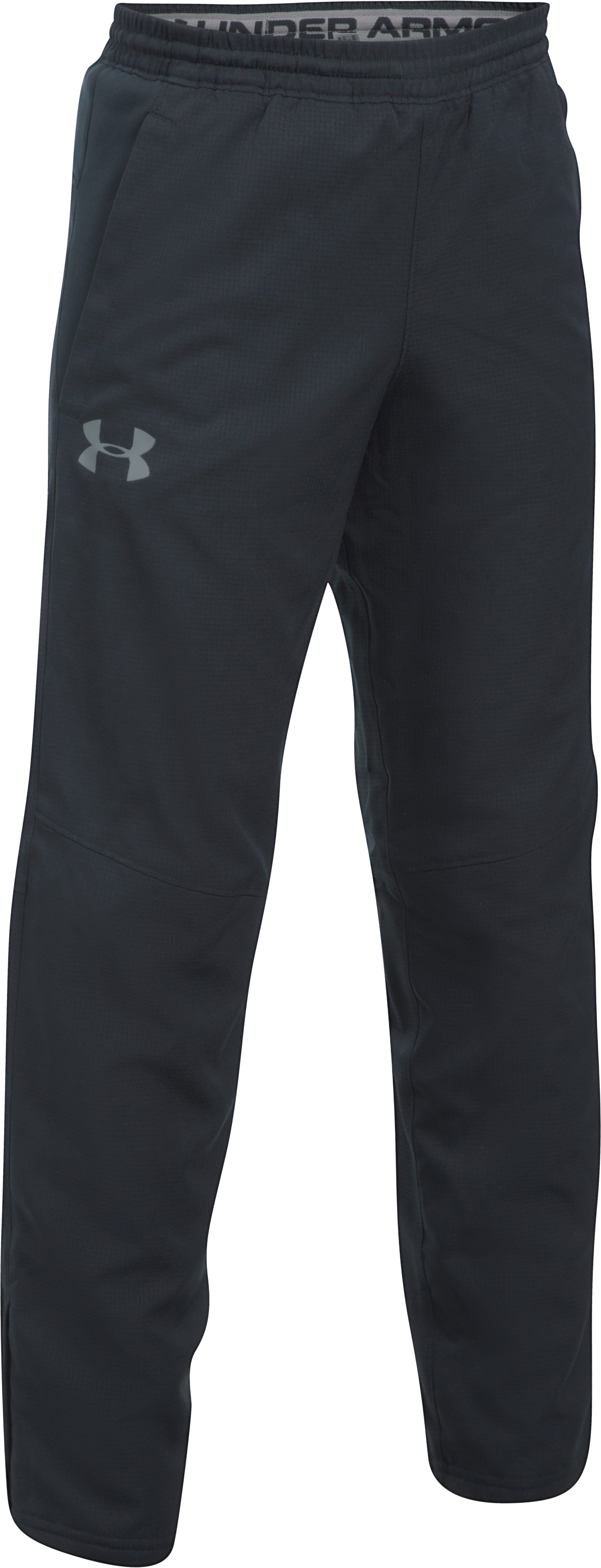 Boys' UA Construckt ColdGear® Reactor Pants, Black , undefined
