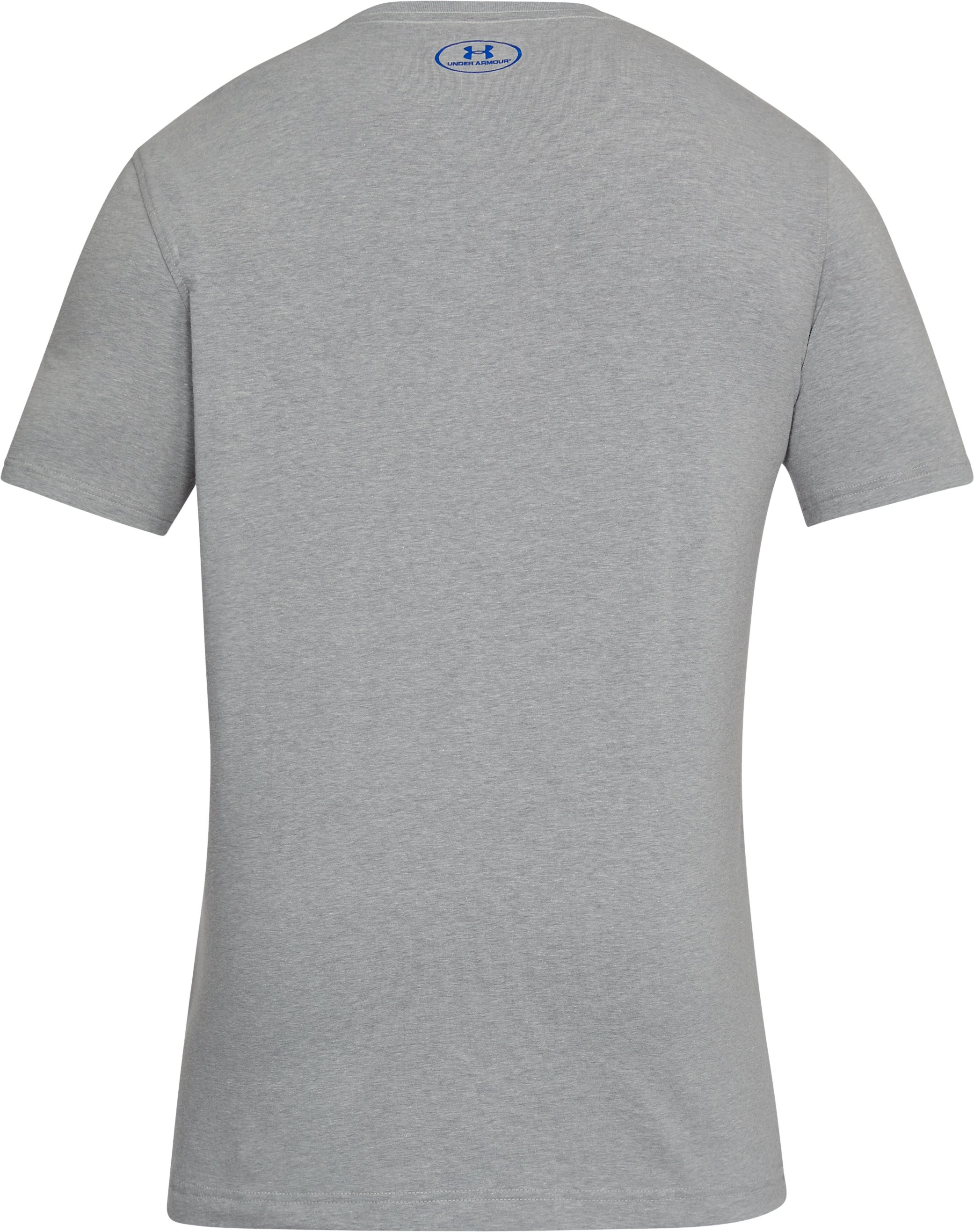 Men's UA Gradient Big Logo T-Shirt, STEEL LIGHT HEATHER,
