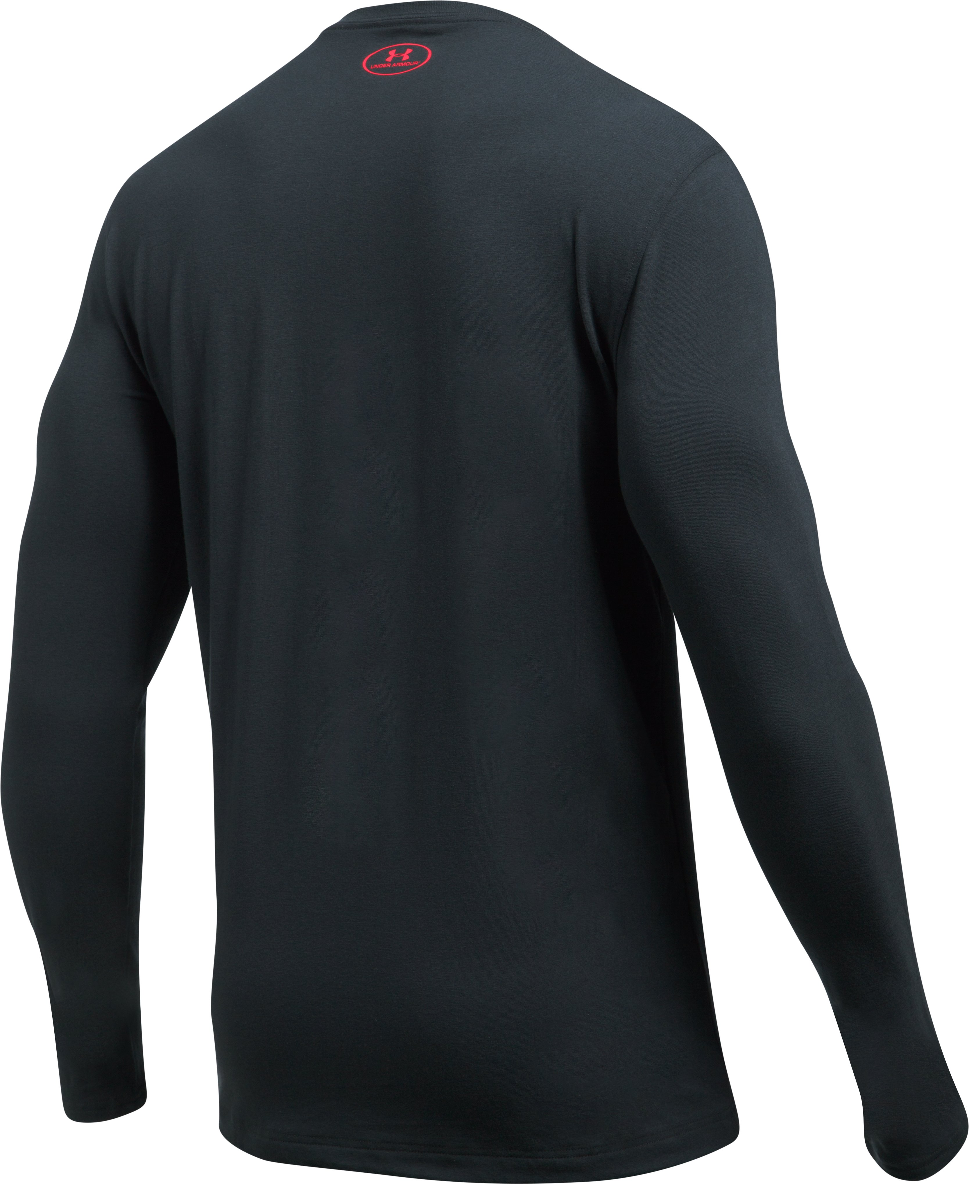 Men's UA Sleeve Hit Long Sleeve T-Shirt, ANTHRACITE,