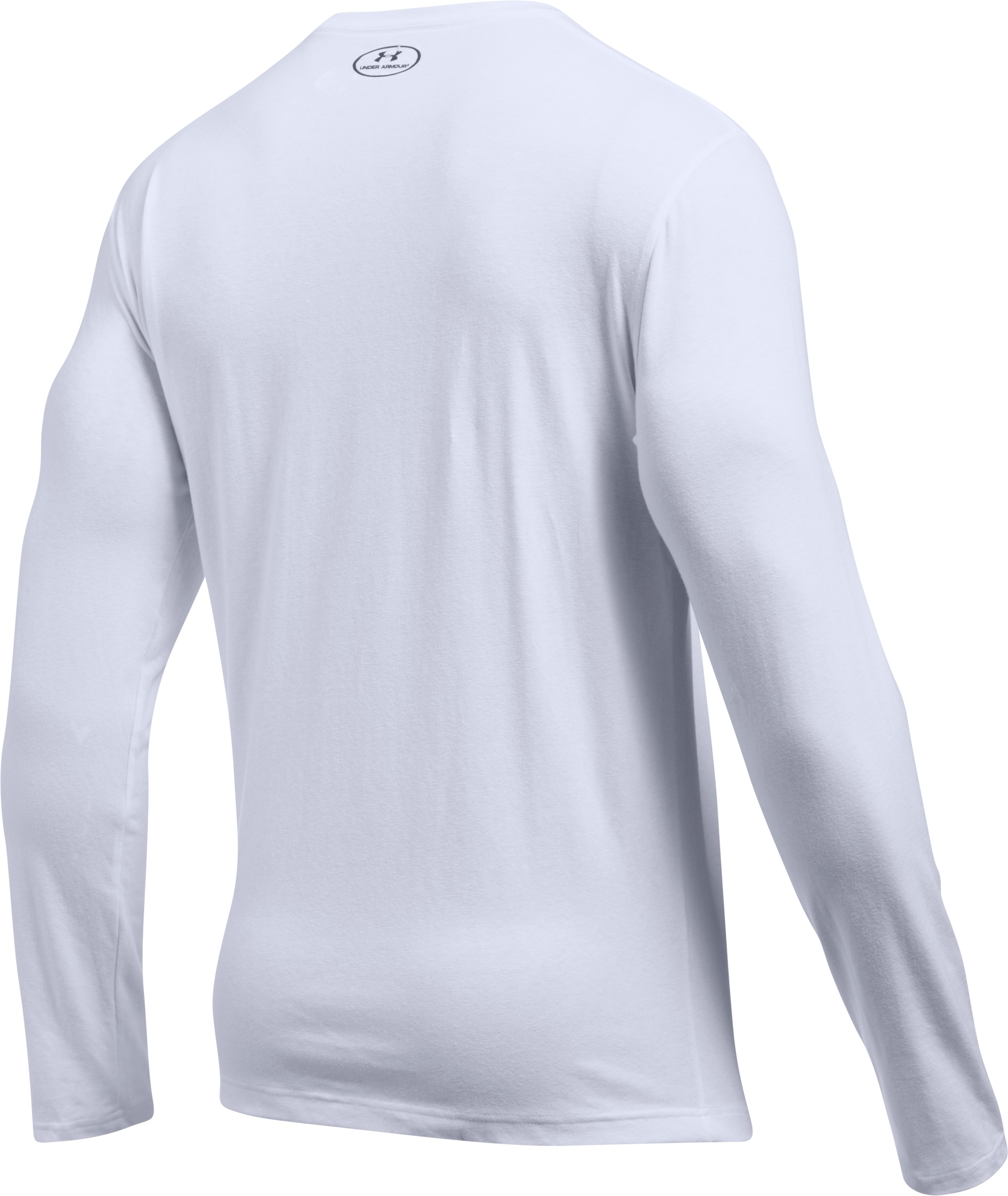Men's UA Sleeve Hit Long Sleeve T-Shirt, White, undefined