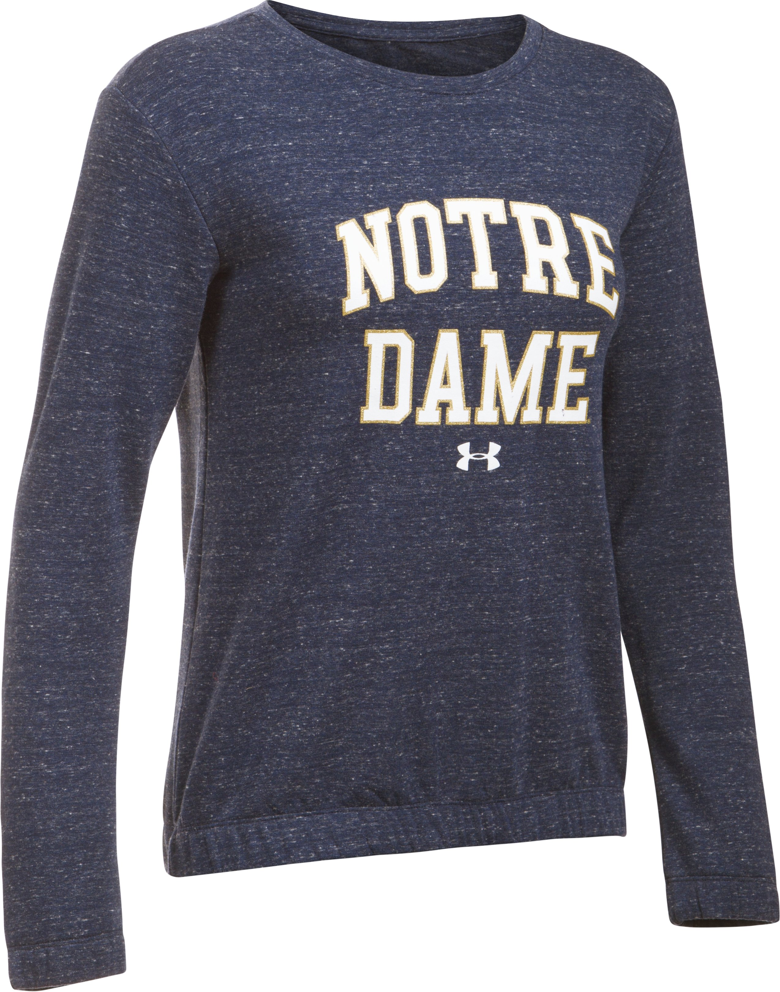 Women's Notre Dame Fleece Crew, Midnight Navy