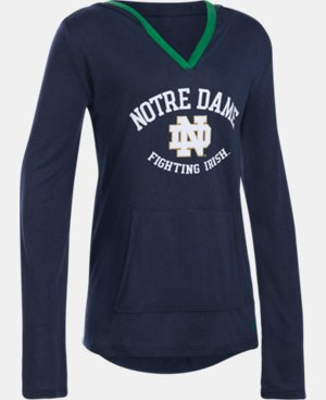 New Arrival Girls' Notre Dame UA Grainy Tech™ Hoodie LIMITED TIME: FREE U.S. SHIPPING 1 Color $44.99