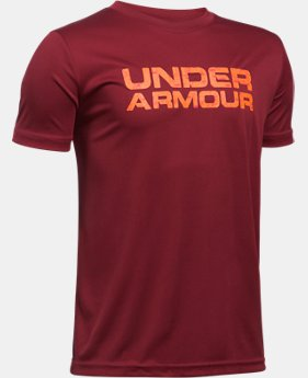 Boys' UA Velocity Wordmark T-Shirt  1 Color $14.99