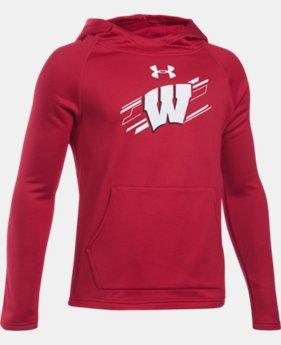 New Arrival Boys' Wisconsin UA Ninja Hoodie LIMITED TIME: FREE U.S. SHIPPING  $54.99