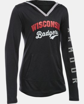 Girls' Wisconsin UA Tech™ Hoodie   $44.99