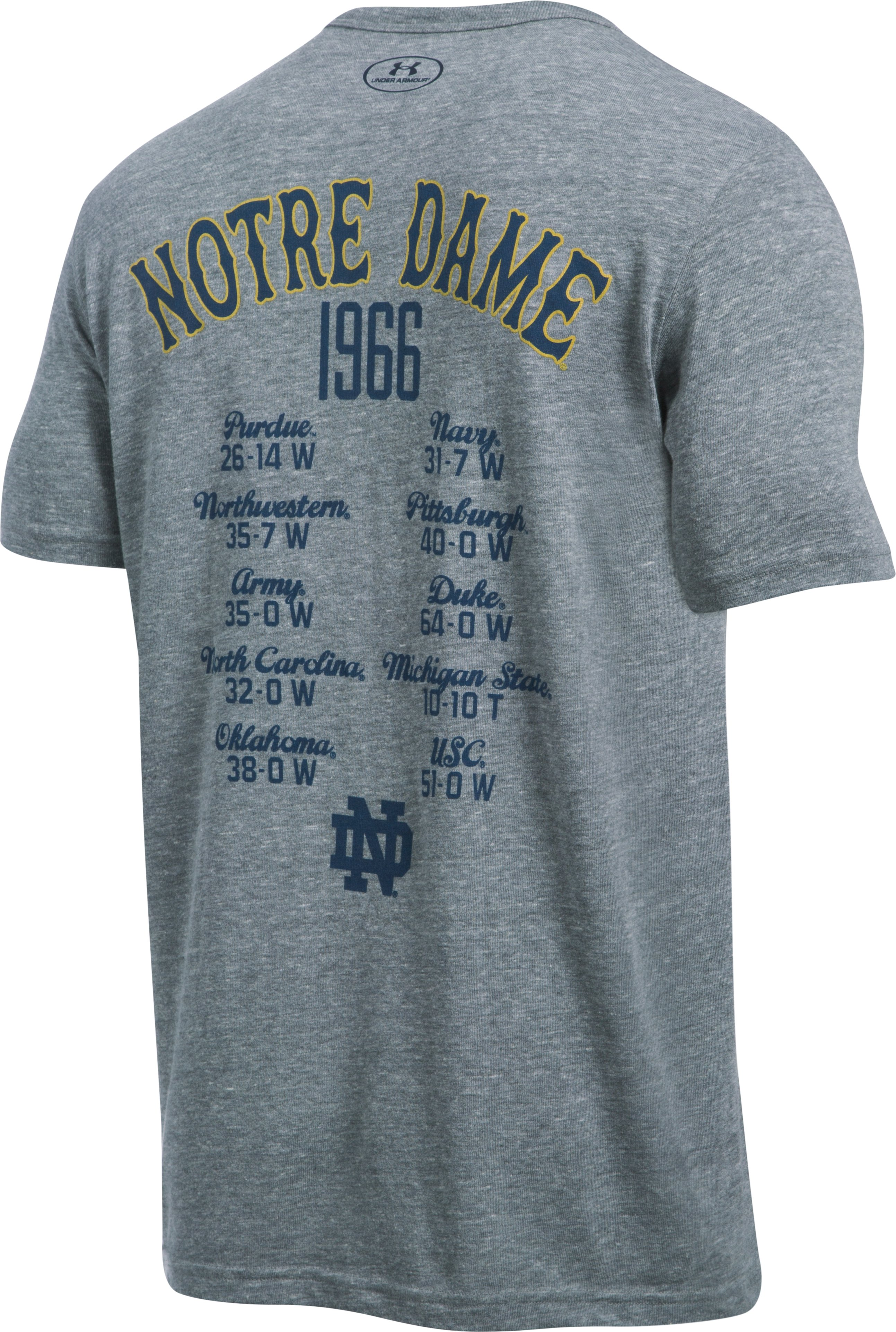Men's Notre Dame UA Iconic 1966 Champ T-Shirt, True Gray Heather, undefined