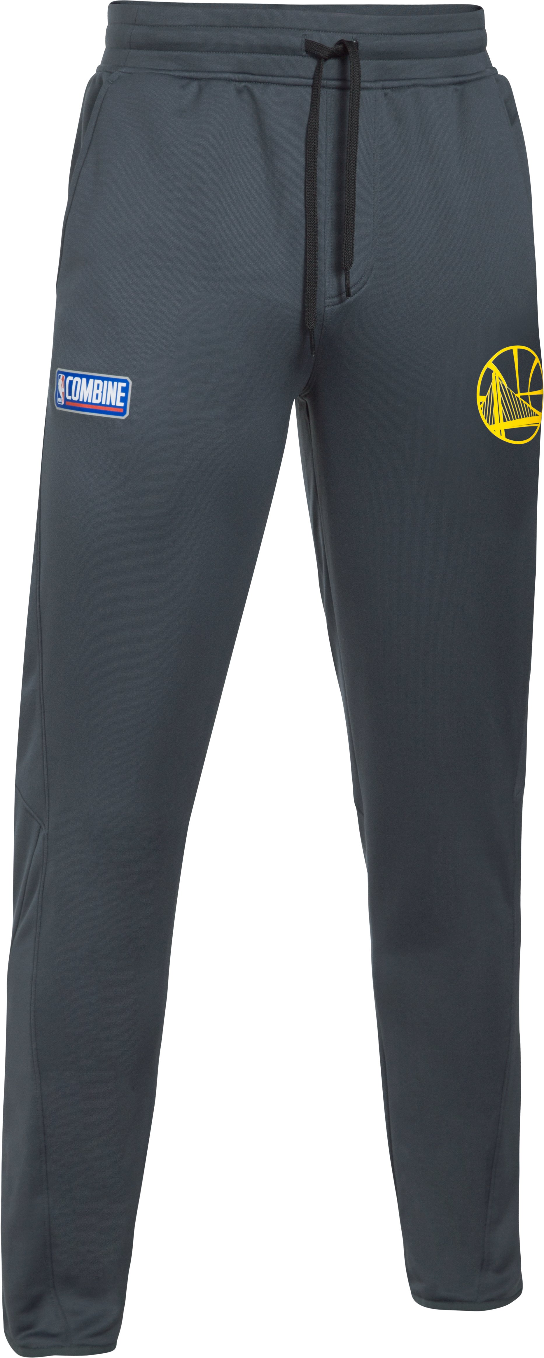 Men's NBA Combine UA Baseline Tapered Pants, NBA_GOLDEN STATE WARRIORS_STEALTH GRAY,