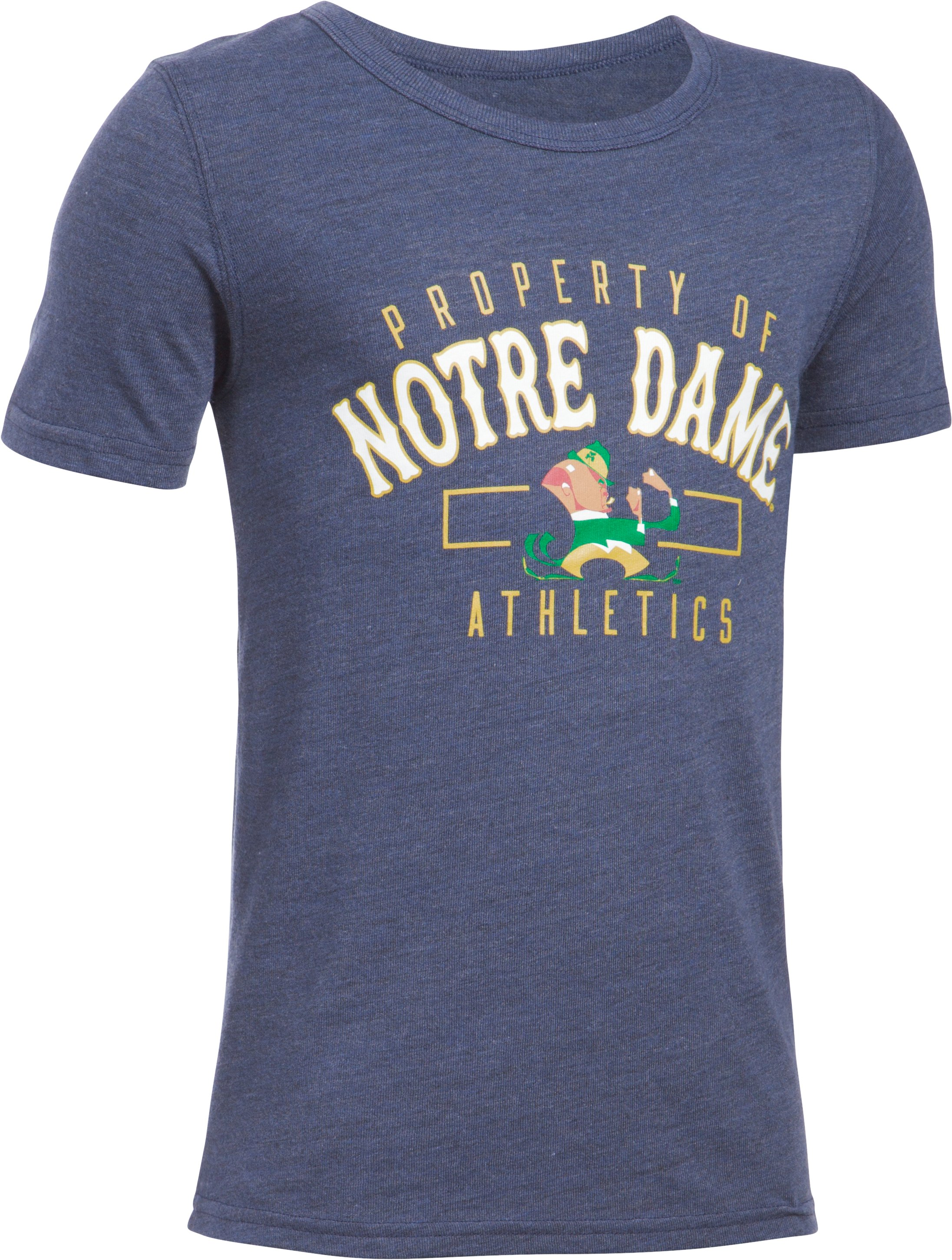 Kids' Notre Dame UA Iconic T-Shirt, Midnight Navy, undefined