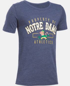New Arrival Kids' Notre Dame UA Iconic T-Shirt  LIMITED TIME: FREE SHIPPING 1 Color $34.99