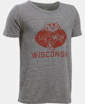 Boys' Wisconsin UA Iconic T-Shirt LIMITED TIME: FREE SHIPPING 1 Color $34.99