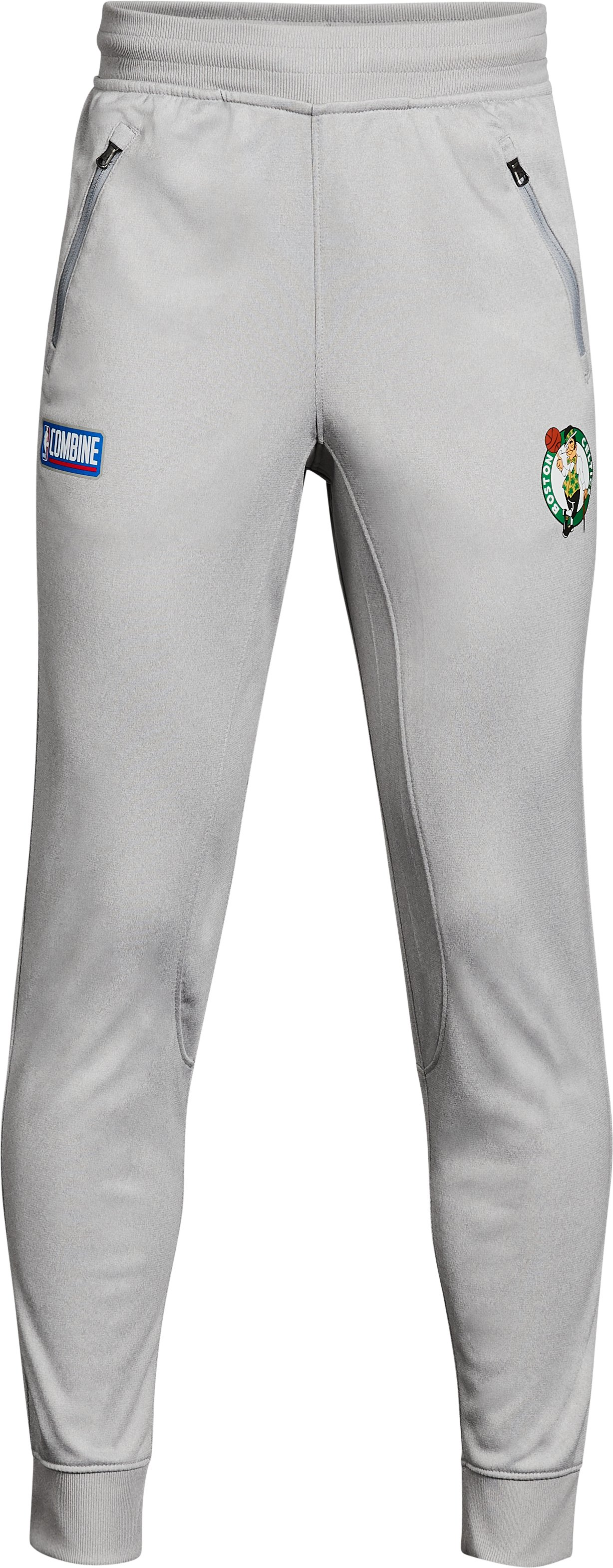 Boys' NBA Combine UA Pennant Joggers, NBA_BOSTON CELTICS_TRUE GREY HEATHER