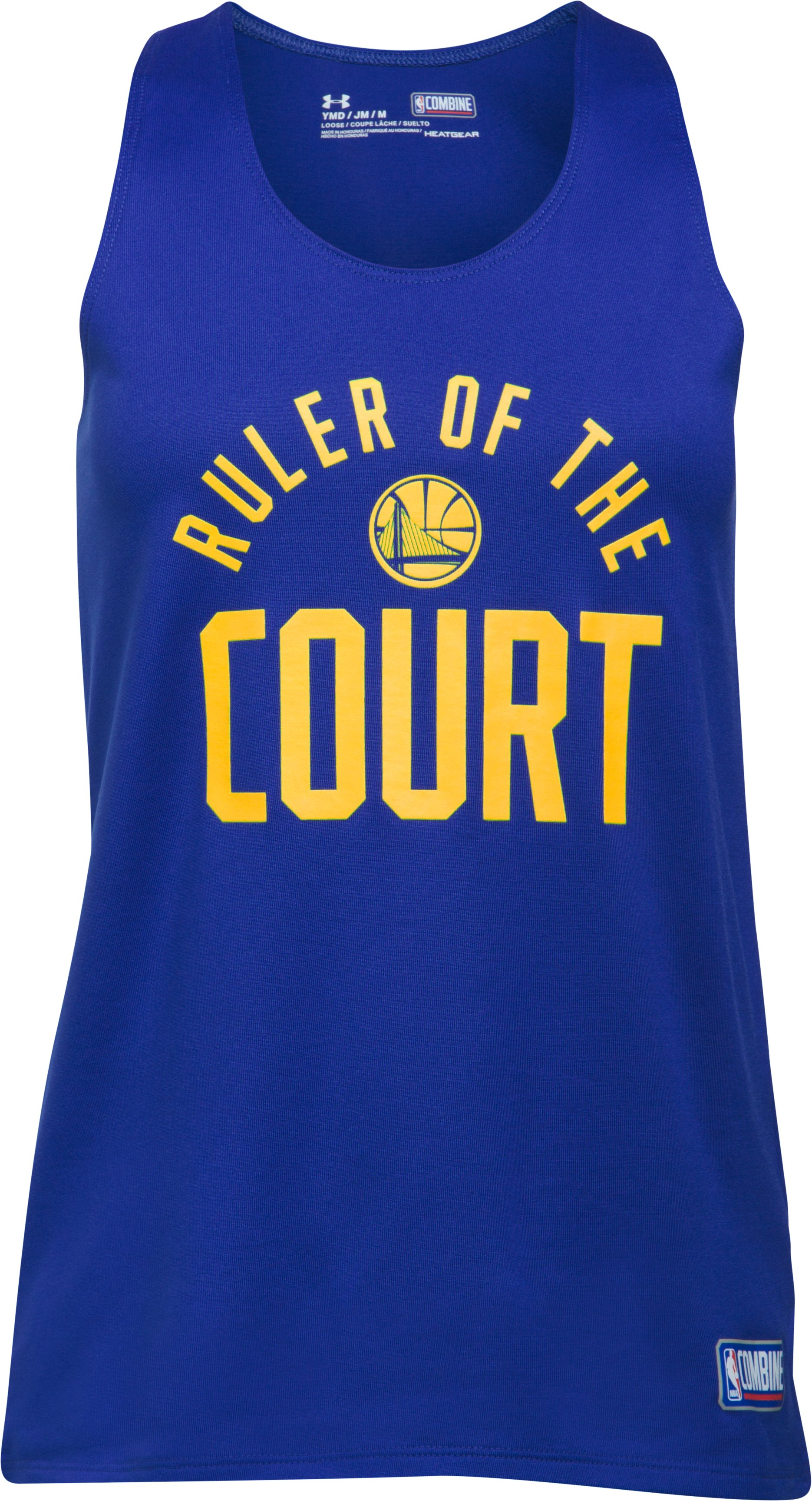 Girls' NBA Combine Authentic Ruler OTC UA Tech™ Tank, NBA_GOLDEN STATE WARRIORS_ROYAL