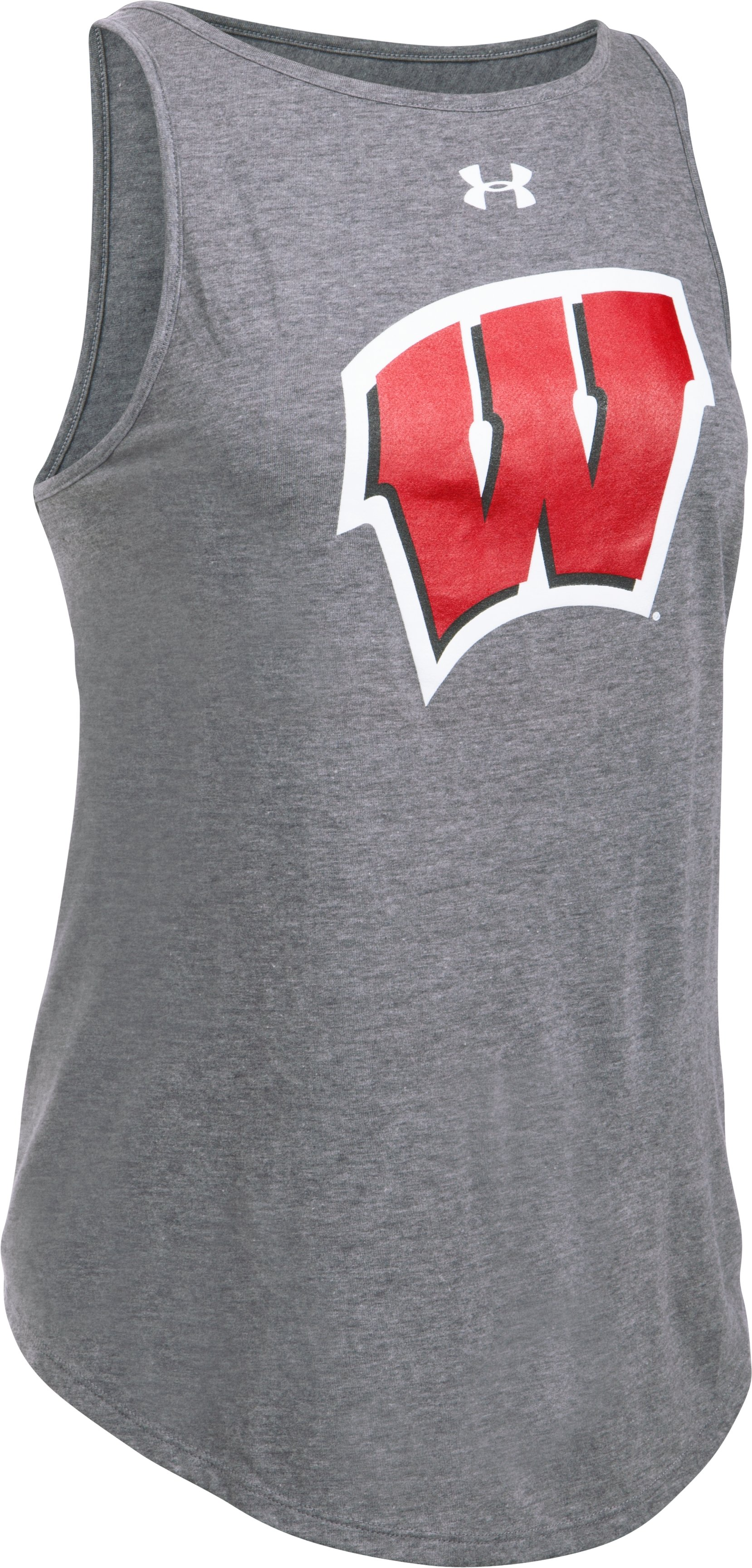 Women's Wisconsin Charged Cotton® Tie Tank , Carbon Heather