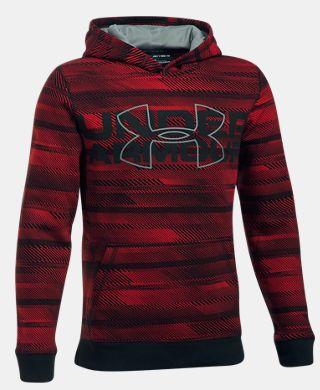 Boys' UA Threadborne Nov Logo Hoodie