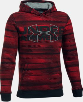 New Arrival Boys' UA Threadborne™ Nov Logo Hoodie  1 Color $49.99