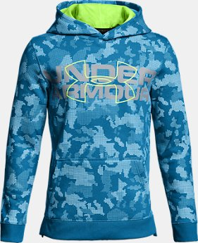 Boys' UA Threadborne™ Big Logo Hoodie LIMITED TIME OFFER 2 Colors $45.49