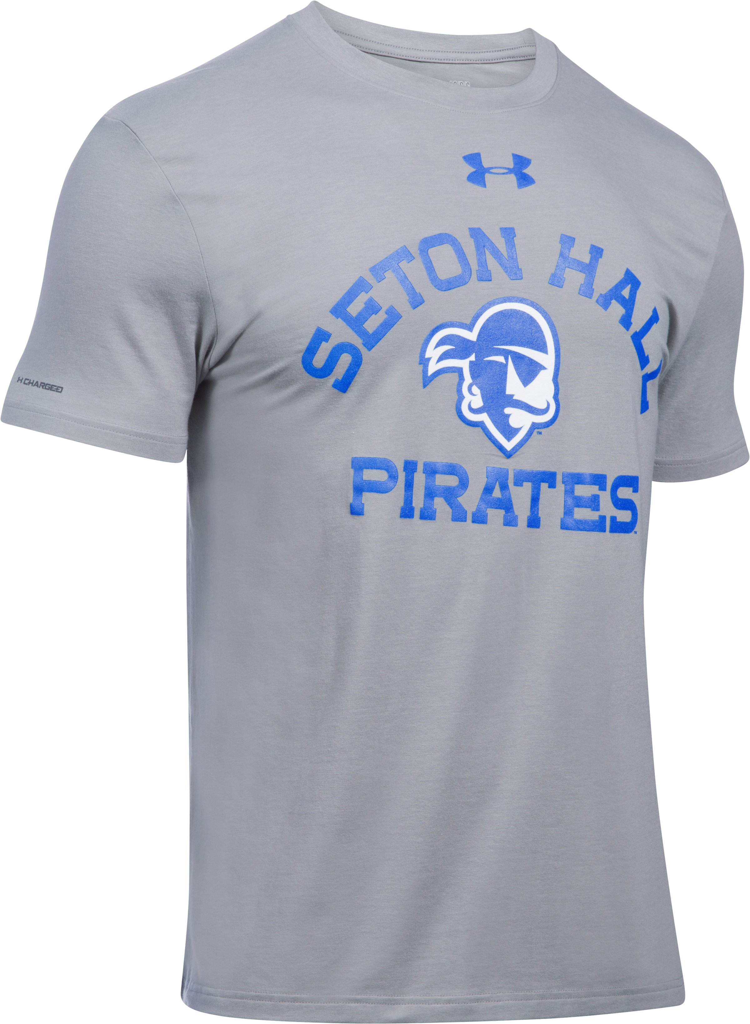 Men's Seton Hall Charged Cotton® T-Shirt, True Gray Heather, undefined