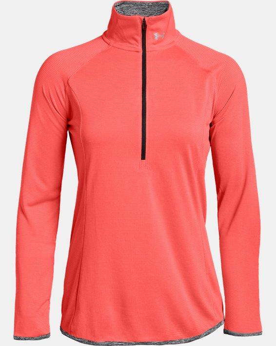 Women's UA Microthread ½ Zip, Orange, pdpMainDesktop image number 0