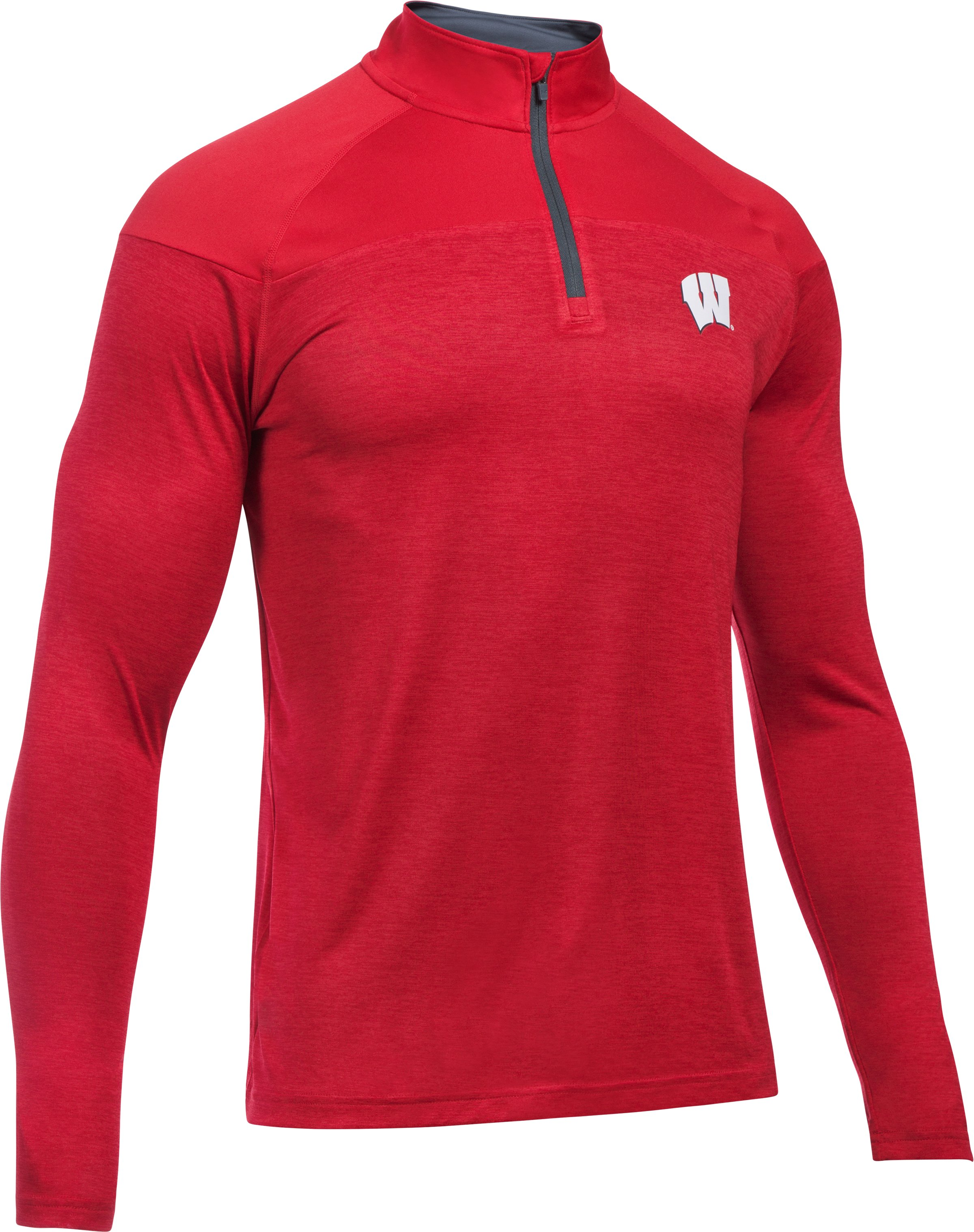 Men's Wisconsin UA Tech™ Printed ¼ Zip, Flawless, undefined