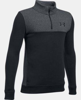 Boys' UA Stretch Fleece ¼ Zip  3  Colors Available $29.99