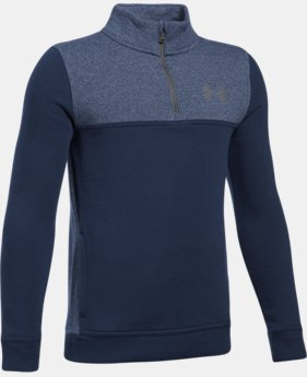 Boys' UA Stretch Fleece ¼ Zip  4  Colors Available $29.99
