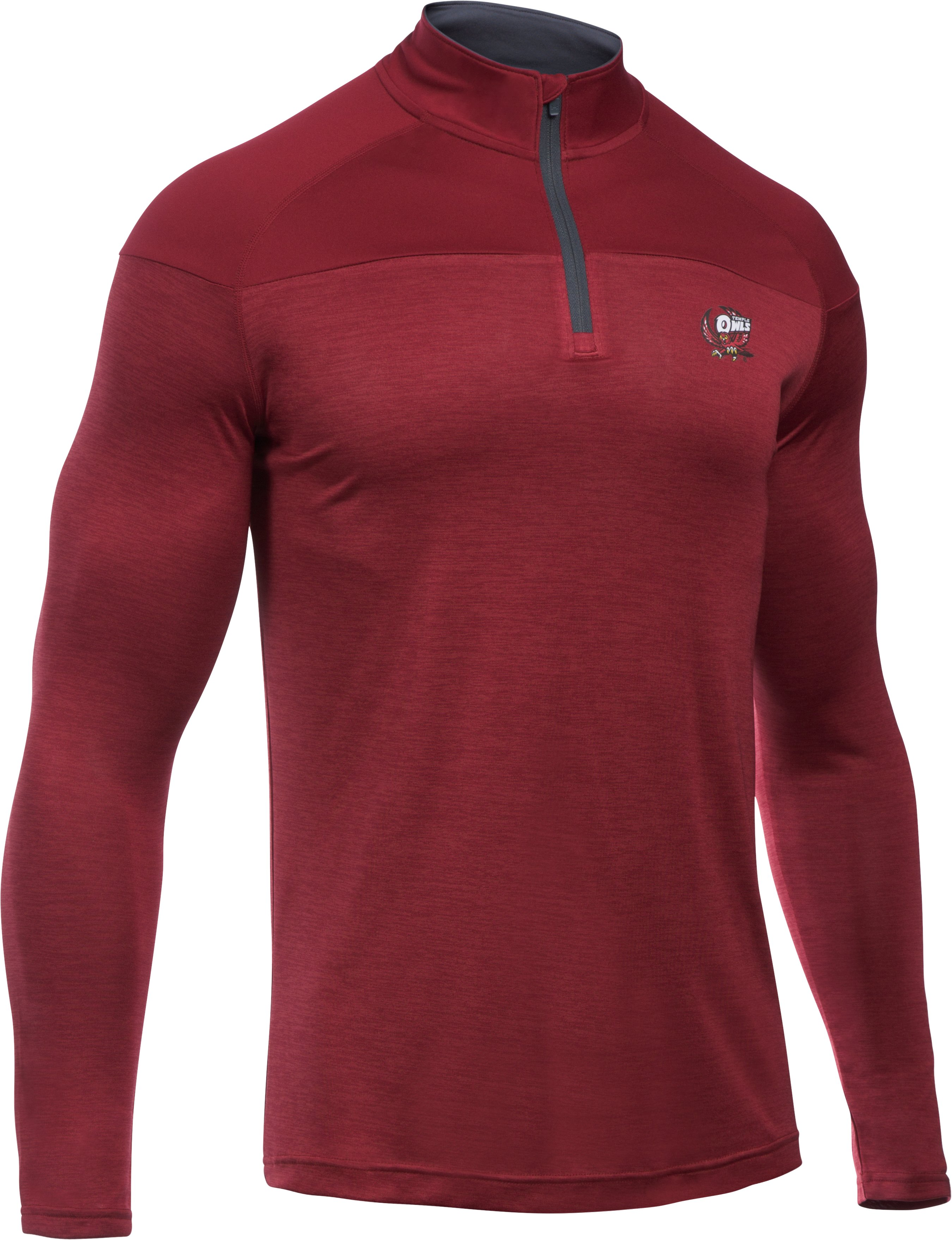 Men's Temple UA Tech™ Printed ¼ Zip, Cardinal, undefined