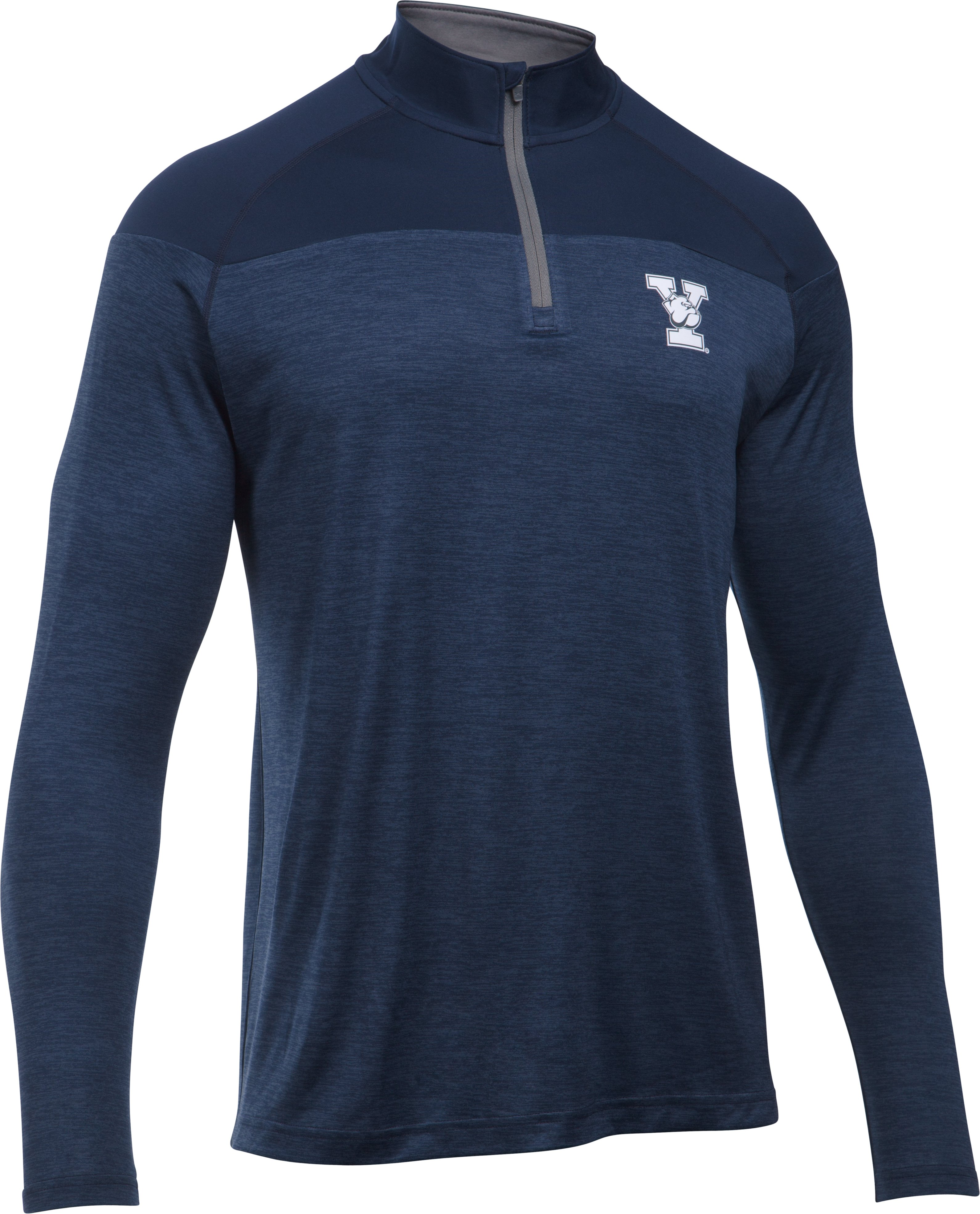Men's Yale UA Tech™ Printed ¼ Zip, Midnight Navy, undefined