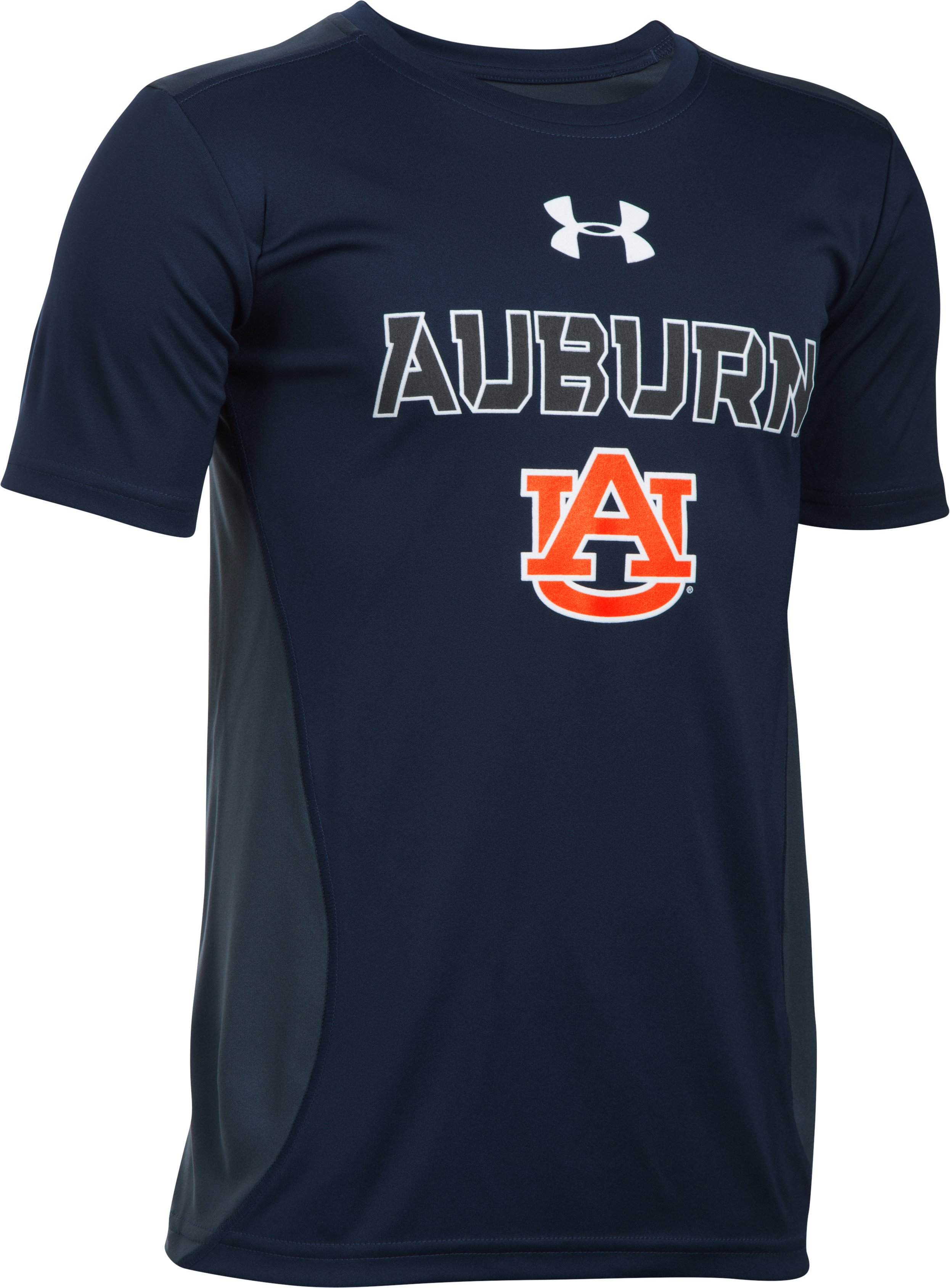 Boys' Auburn UA Tech™ CB T-Shirt , Midnight Navy
